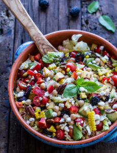 Recipe: Easy Summer Herb and Chickpea Chopped Salad with Goat Cheese